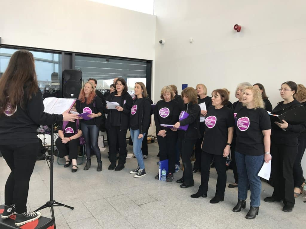 Northwich Pop Choir Singing