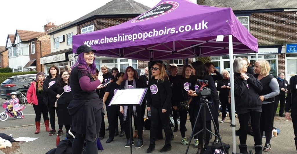 Cheshire Pop Choir at Manchester Marathon