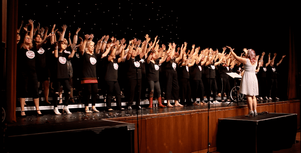 Cheshire Pop Choirs Singing
