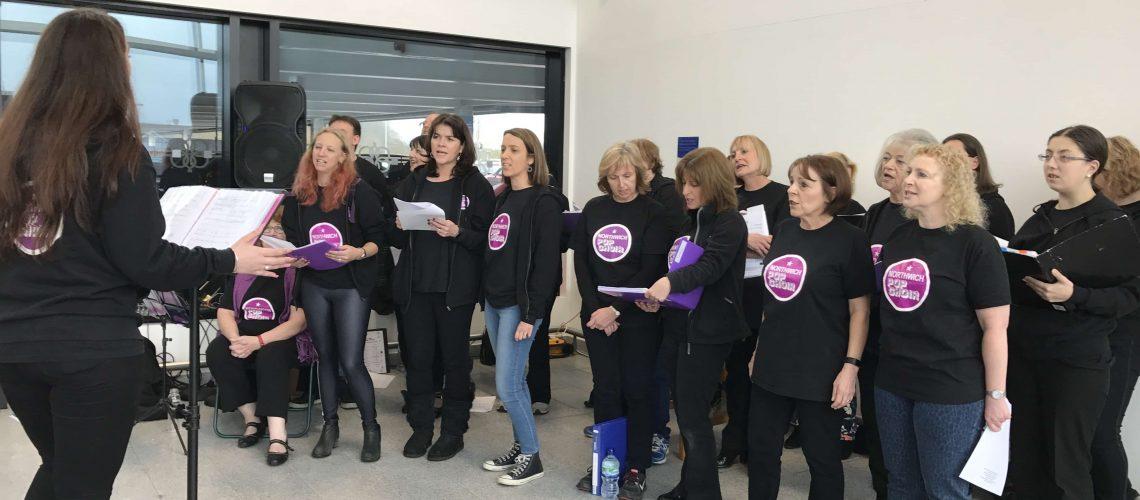 Northwich Pop Choir Singing