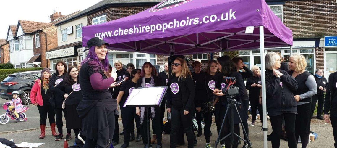 Cheshire Pop Choir at Manchester Marathon