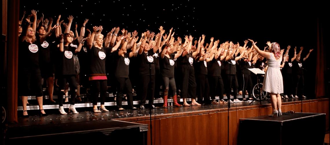 Cheshire Pop Choirs Singing